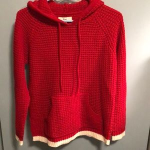 ZOEY red waffle knit hoodie -M
